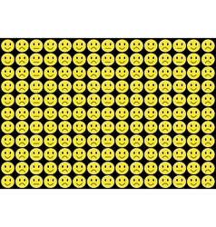 Yellow smiles background vector image vector image