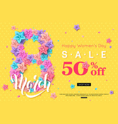 8 march sale banner design for online shopping vector image