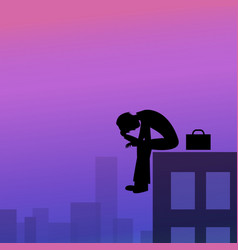 depression in business man vector image