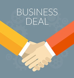 Flat design Business deal concept Handshak vector image vector image