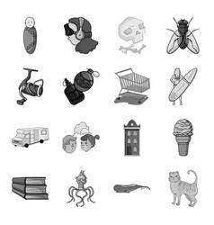 Tail history travel and other web icon in vector
