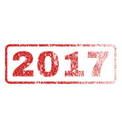 2017 rubber stamp vector image vector image