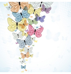 Abstarct background with colorfull butterfly vector image vector image