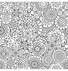Decorative background of full frame designs vector image vector image