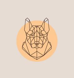 dog shepherd head in polygonal style vector image