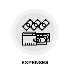 Expenses Line Icon vector image vector image