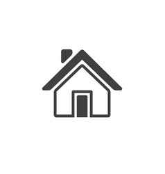 home icon isolated on white background vector image vector image
