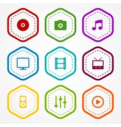 Media badges vector image