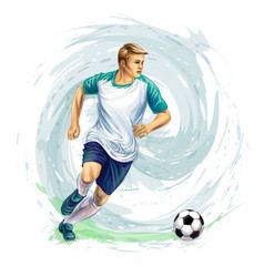 soccer player ball vector image vector image