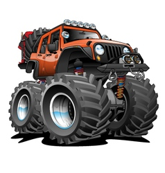 4x4 Off Road Vehicle Cartoon vector