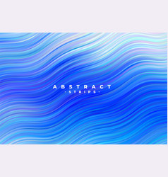 Abstract blue wavy stripes background vector