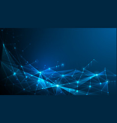 Abstract poligonal dark blue background vector
