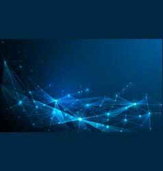 Abstract poligonal dark blue background with vector