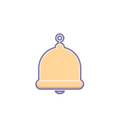 alarm alert bell icon call notification sign vector image