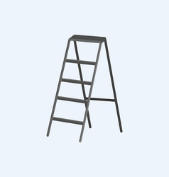 Aluminum stepladder self-supporting object vector