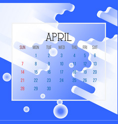 april 2019 calendar leaf vector image