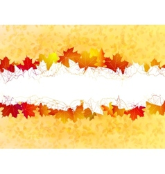 Autumn leaves background plus EPS10 vector