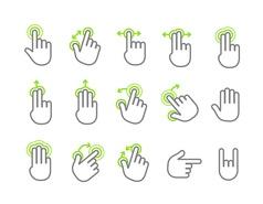 Basic human gestures using modern digital devices vector