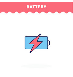 battery icon flat design advantage icon vector image