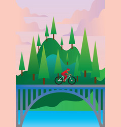 Bicycle traveling vector