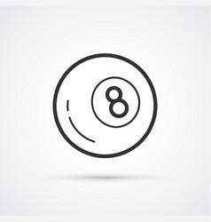 billiard black ball number 8 eps10 vector image