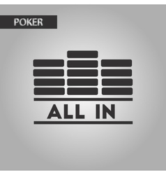 black and white style chips all in vector image