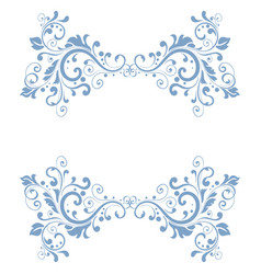 blue floral decoration dividers vector image