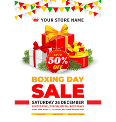 boxing day sale advertising poster vector image