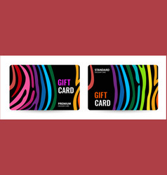 bright card with rainbow line creative gift card vector image