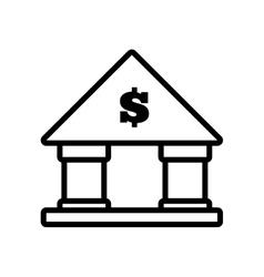 Building bank money finance line vector