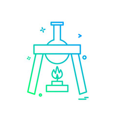 burner flask icon design vector image