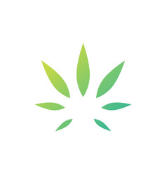 Cannabis leaf hemp logo icon vector