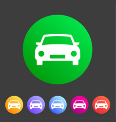 car icon flat web sign symbol logo label vector image