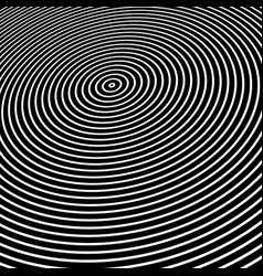 circle lines texture on black vector image