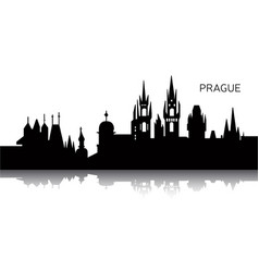Cityscape of prague vector