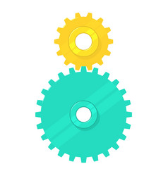 cogged gears icon cartoon style vector image