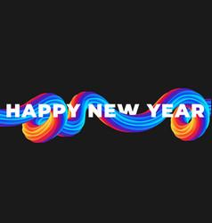 colorful brushstroke liquid poster 2021 happy new vector image