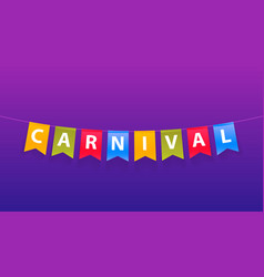 colorful handmade typographic word carnival on vector image