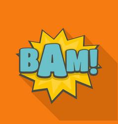 Comic boom bam icon flat style vector