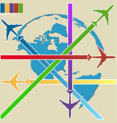 concept of airplane air craft shipping vector image