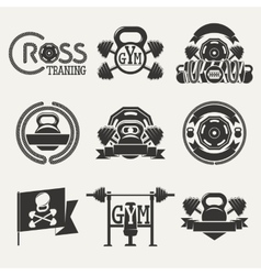 Cross Fitness and GYM logo vector