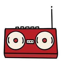 Cute cartoon stereo vector
