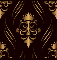 Damask seamless pattern golden element elegant vector
