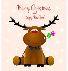 Dear deer Rudolph vector image