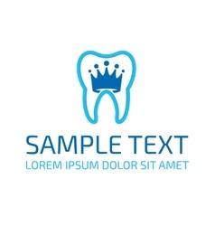 Dentist logo template vector image