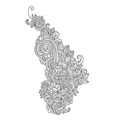 Doodle art flowersHand drawn design vector