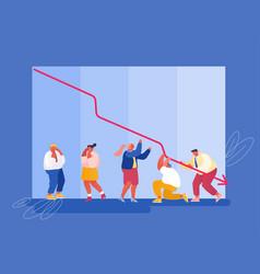 economic recession sale drop and crisis concept vector image