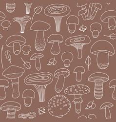 edible and inedible mushroom seamless pattern vector image