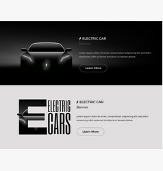 Electric car banners template vector