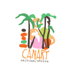 exotic summer travel to canary vector image